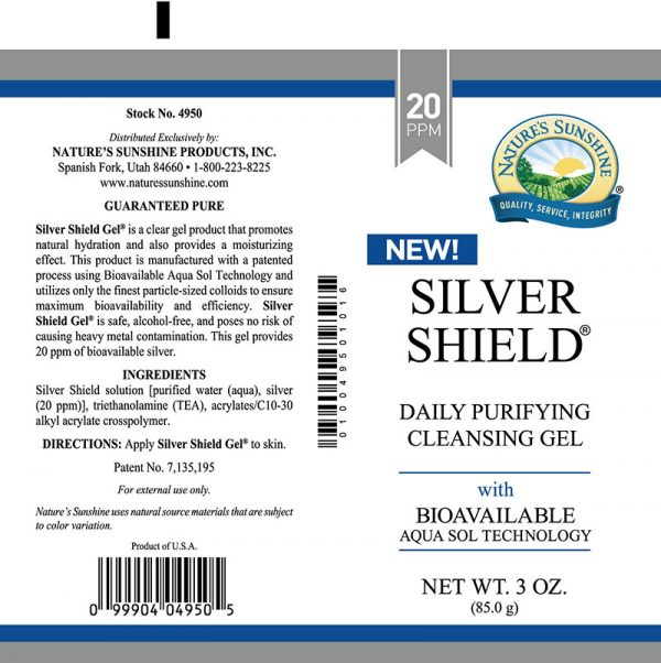 silver shiled gel label