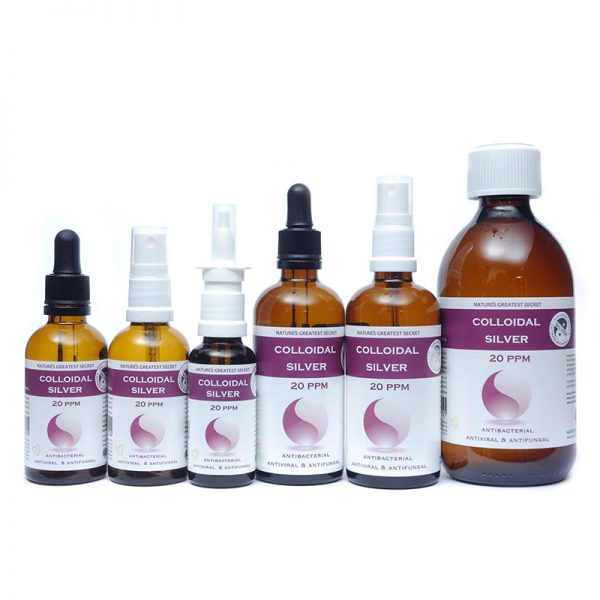 20ppm Colloidal Silver - High quality crystal clear solution with a pH of 9.0 product range